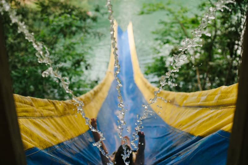 summercamp waterslide