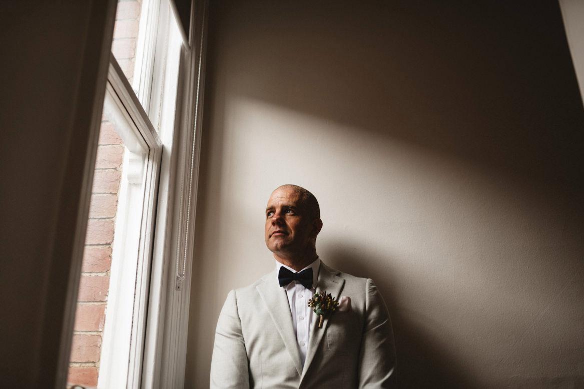 tasmania wedding photographer portrait of groom
