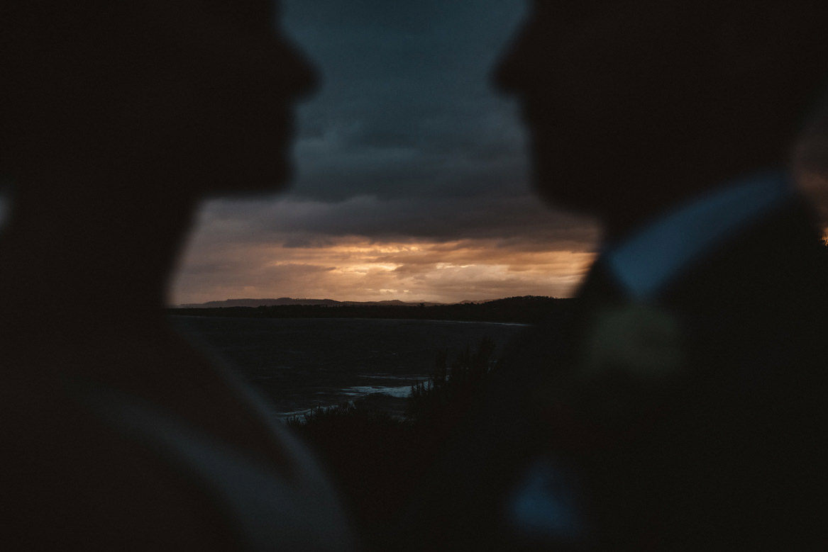 avalon tasmania wedding portraits at sunset