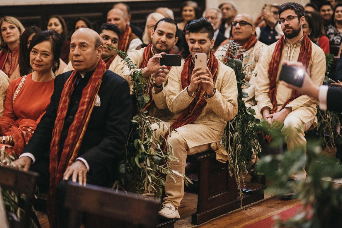 Indian wedding at catholic church