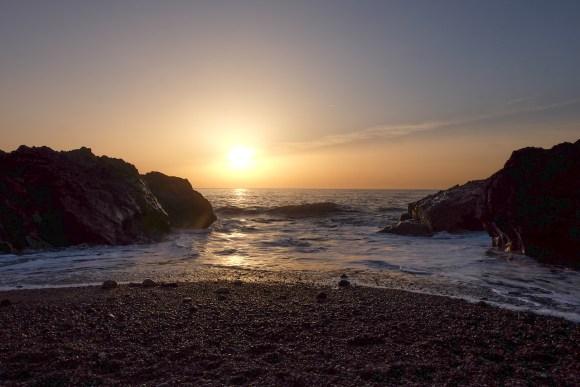 Puesta de sol en Playa de Oporto