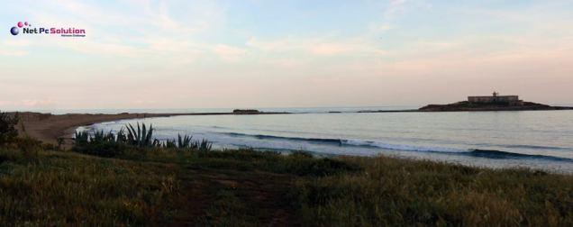 Isola delle Correnti dalla costa Mediterranea