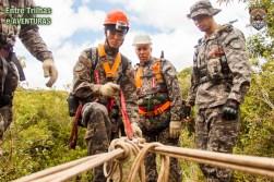 Curso de Resgate em Áreas Remotas e de Difícil Acesso realizado pelo Bombeiros em Operações em Desastres de Minas Gerais.