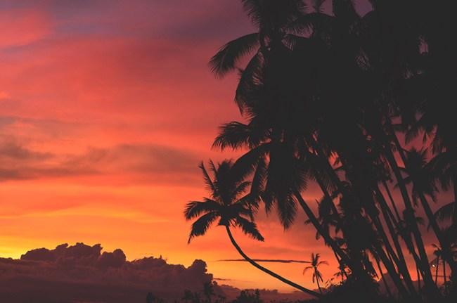 fotografie di paesaggio al calar del sole