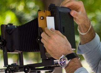 Lomograflok fotografia istantanea in una 4x5 dorso