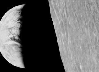 EarthMoon_dettaglio luna terra luna orbiter 1 foto del 1966