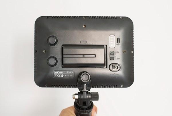KF Concept LED-300 luce portatile leggere per fotografia cibo ritratti e interviste