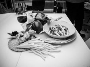 durante una sessione di ripresa di iatti cucinati nel nostro studio