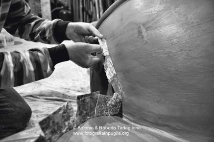 La preparazione del Carro Allegorico del gruppo Impedovo a Putignano (BA) - 2009 e 2010