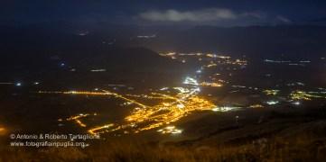 la piana dell'Agri di notte