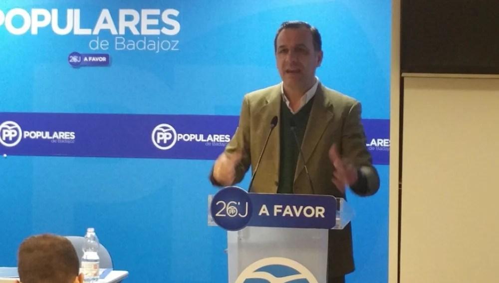 Juan Antonio Morales, secretario provincial del PP de Badajoz y diputado de la Asamblea de Extremadura | @Juan_A_Morales/Archivo