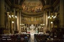 Parijs, kerkdienst in de Madeleine kerk.