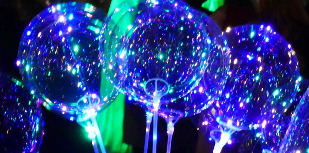 leuchtende Luftballons