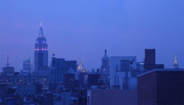 view from the roof top at 190 Bowery