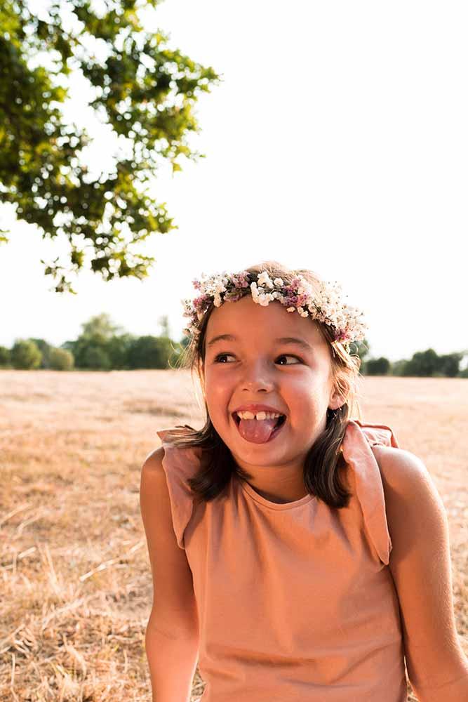 meisje portret zomer golden hour