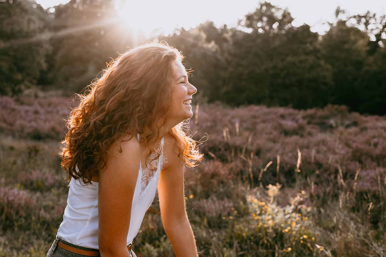 golden hour portret tiener meisje
