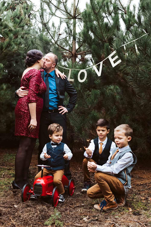 huwelijk winter met kinderen