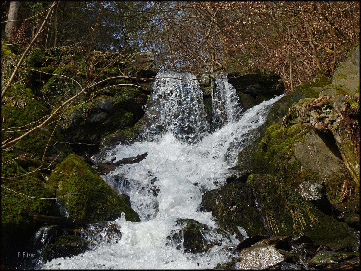 Wasserfall im Laubachtal