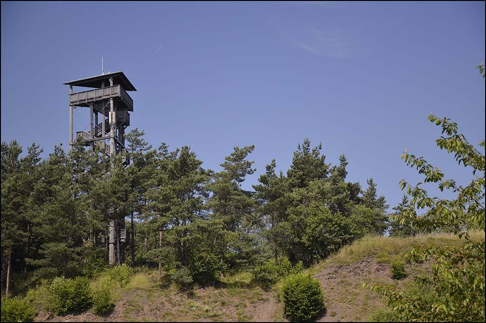 """Blick auf den """"Eifelturm"""" von Boos"""