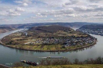 Blick auf Filsen auf der anderen Rheinseite