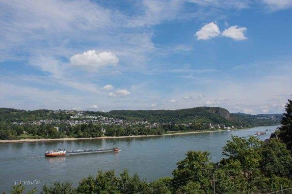 Blick auf den Rhein von der Appolinariskirche