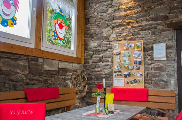 Ein wunderschönes Innenleben hat das Cafe Eulenspiegel