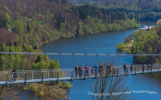Längste Hängeseilbrücke - Rappbodetalsperre