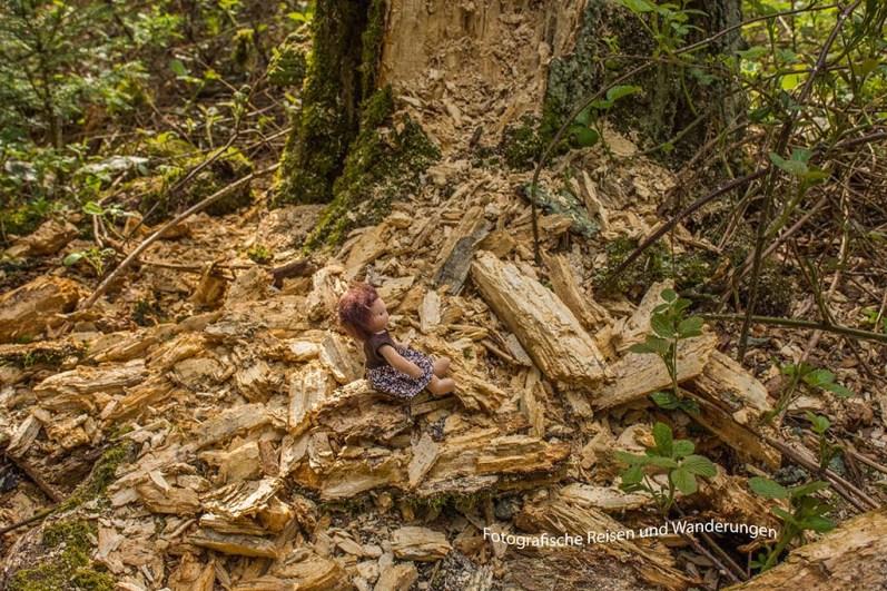 Wanderomi macht Chaos im Wald (Rivkah Puppen)