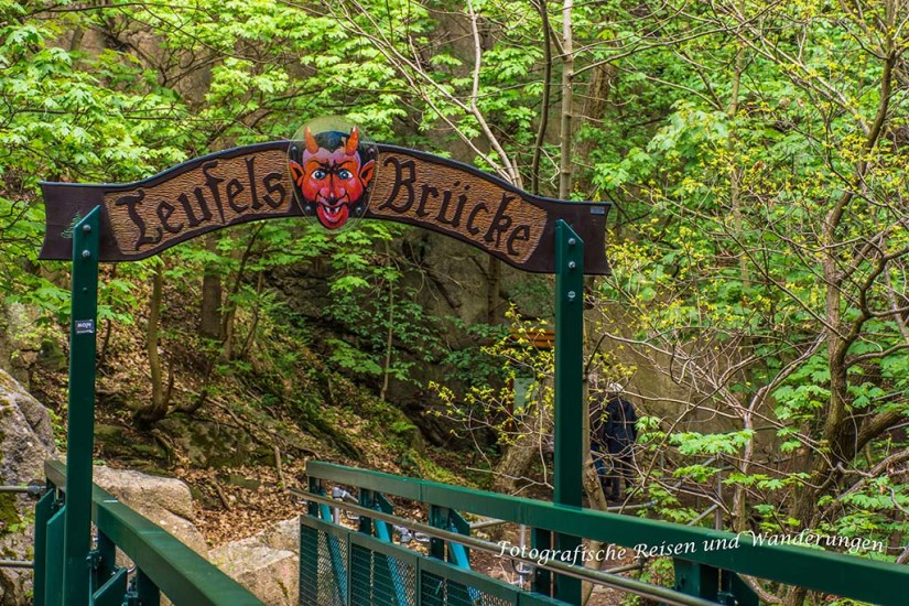 Von 1863, die sagenumwobene Brücke des Teufels