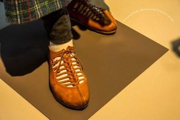 Sehr schön gestaltete Schuhe eines Römers