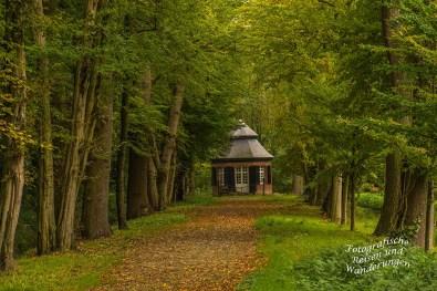 das rekonstruierte Teehaus aus dem 18. Jahrhundert