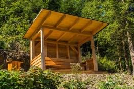 Eine tolle Schutzhütte von Einwohnern des Ortes Ohlenbach gebaut