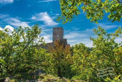 Auf dem Weg zur Niederburg auf dem Grittebasje Klettersteig