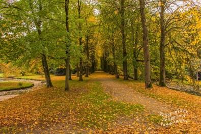 Parkanlagen Wasserburg Anholt in Isselburg im Oktober 2017