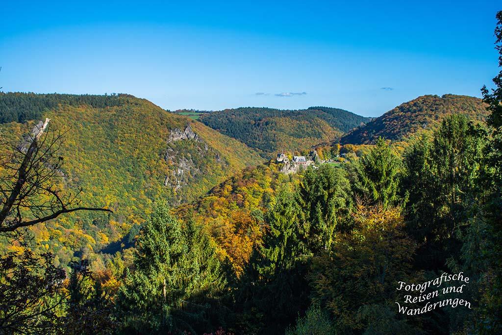 Noch einmal auf das Schloss Veldenz schauen