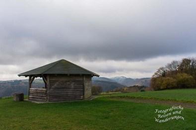 Aussicht Udelsheck mit Schutzhütte