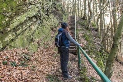 Viele Stufen führen hinauf zum Bilsteiner Kopf
