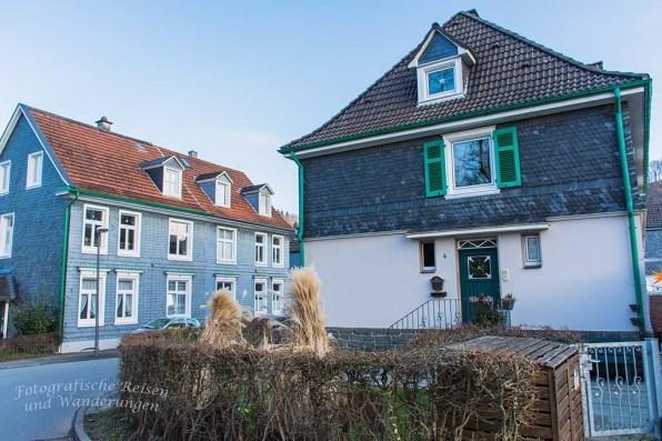 Schiefer an den typischen Bergischen Häusern
