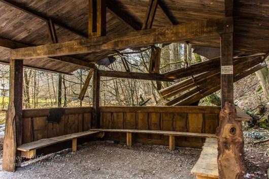 Schutzhütte war nicht gut geschützt. Friederike ist schuld