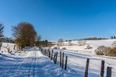 Schön verschneite Landschaft, jetzt wieder zum genießen