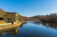 Der Damm zur Rurtalsperre -