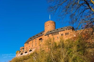 Blick auf Burg Hengebach
