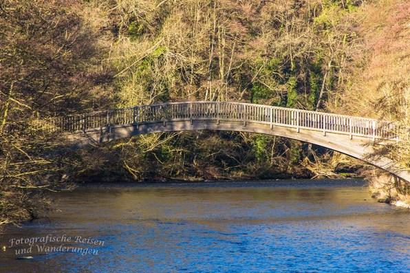 Holzbrücke über die Rur