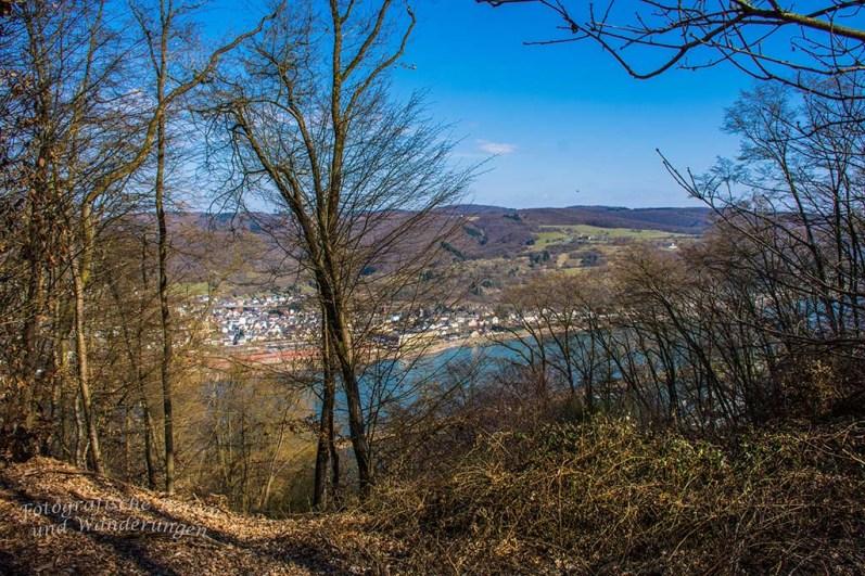 Blick auf den Rhein auf dem Himmelsleiterweg