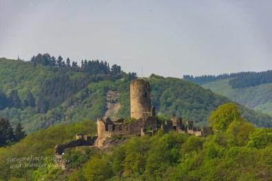 Blick auf die Ruine der Winneburg von der Aussicht Wilhelmshöhe