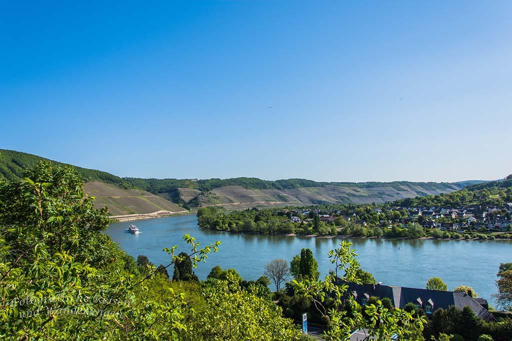 Der Mittelrhein Klettersteig hat uns gefordert- Jetzt der Blick auf den Rhein