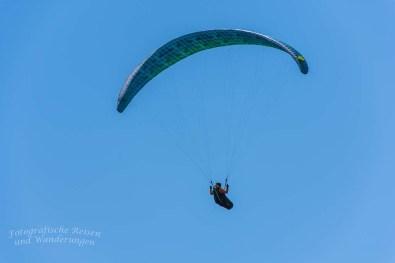Hier fliegen die Paraglider ganz nah