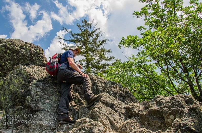 Felsen sind zu bezwingen