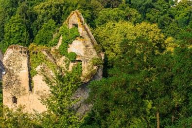 Die Ruine eines Wohnhauses unterhalb Burg Sayn