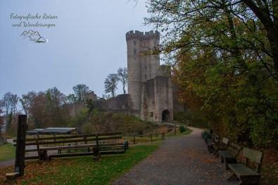 Burgruine Kasselburg - Dort sind die Volieren